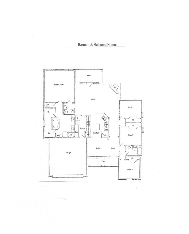 Floorplans « Harmon and Holcomb Homes on sloped lot floor plans, zero lot line home, huge master suite house plans, zero-entry house plans, zero lot line design,