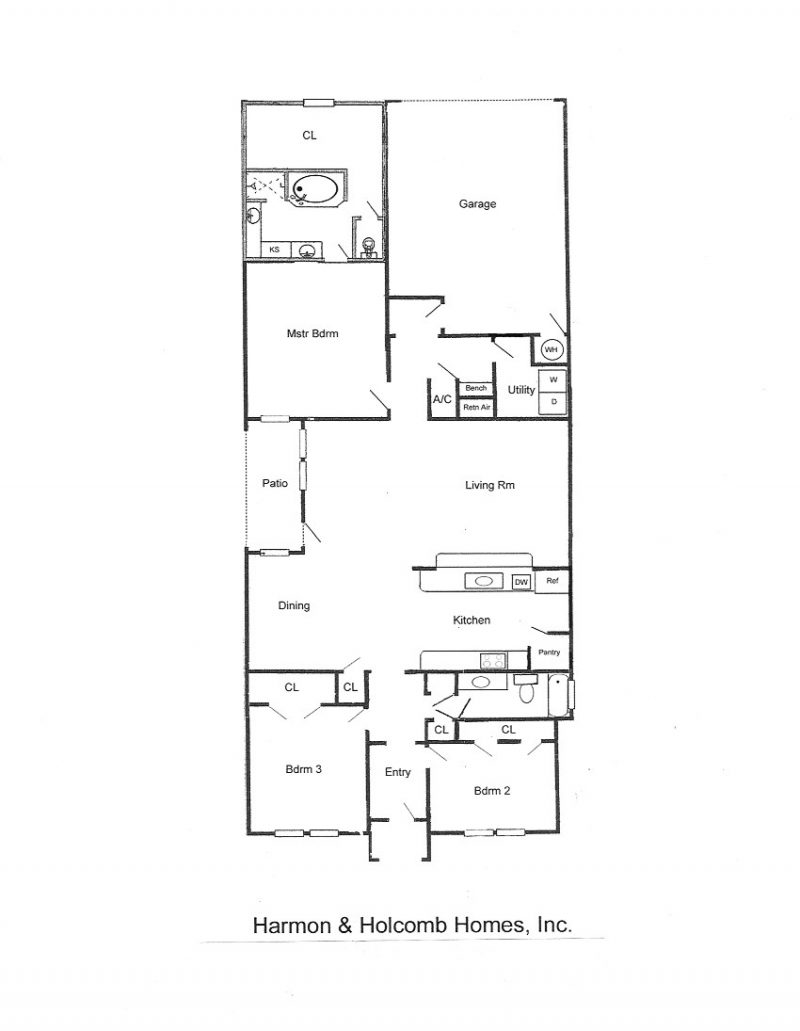 Floorplans harmon and holcomb homes for Zero house plans